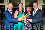 Enjoying themselfs at the Lee Strand Social in Ballygarry House Hotel & Spa,Tralee on saturday night. l-r: Greg Herve,Sinead Herve,Sheila and thomas Quinn.