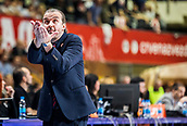 9th February 2018, Aleksandar Nikolic Hall, Belgrade, Serbia; Euroleague Basketball, Crvenz Zvezda mts Belgrade versus AX Armani Exchange Olimpia Milan; Head Coach Simone Pianigiani of AX Armani Exchange Olimpia Milan gestures
