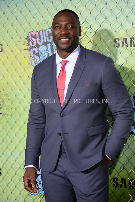 www.acepixs.com<br /> August 1, 2016  New York City<br /> <br /> Adewale Akinnuoye-Agbaje attending the world premiere of Warner Bros. Pictures and Atlas Entertainment&rsquo;s 'Suicide Squad' at the Beacon Theatre on August 1, 2016 in New York City.<br /> <br /> <br /> Credit: Kristin Callahan/ACE Pictures<br /> <br /> <br /> Tel: 646 769 0430<br /> Email: info@acepixs.com