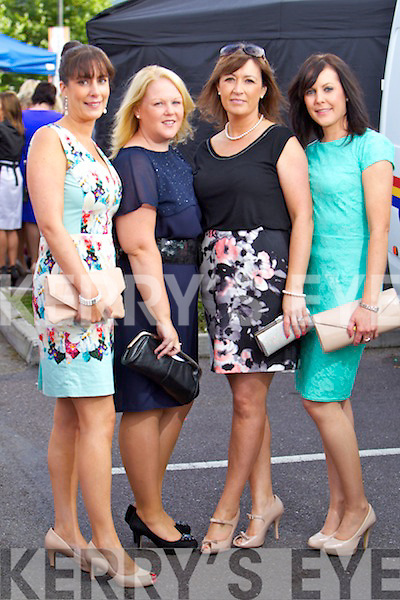 Joanne Noonan (Tralee) Annmarie Flynn (Farranfore) Margaret Roche (Tralee) and Mary O'Connor (Castleisland) pictured at the Rose of Tralee fashion show in the Dome on Sunday night.