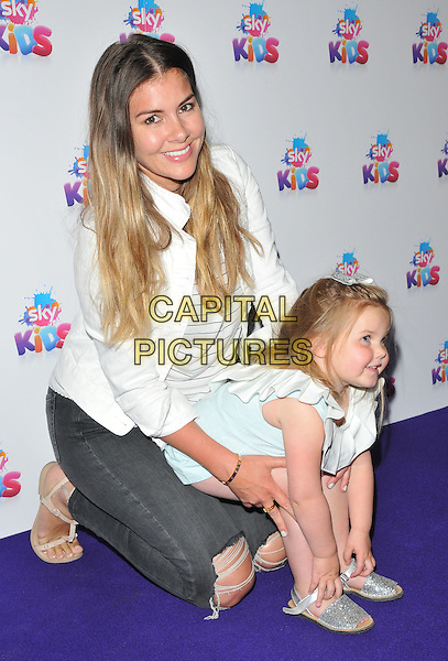 Imogen Thomas &amp; daughter Ariana Siena Horsley at the Sky Kids Cafe VIP launch party, The Vinyl Factory, Marshall Street, London, England, UK, on Sunday 29 May 2016.<br /> CAP/CAN<br /> &copy;CAN/Capital Pictures