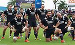 (standing) Ben May (L), Akira Ioane, Rieko Ioane, Charlie Ngatai, Blade Thomson, (kneeling) Elliot Dixon, Joe Royal, Hayden Triggs. Maori All Blacks vs. Fiji. Suva. MAB's won 27-26. July 11, 2015. Photo: Marc Weakley