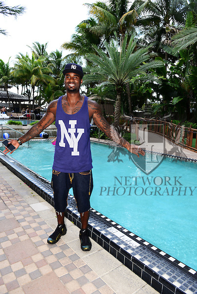MIAMI BEACH, FL - JUNE 21: Plaxico Burress attend  DJ Irie Weekend-IWX - BBQ Beach Bash Pool Party at National Hotel on Saturday June 21, 2014 in Miami Beach, Florida. (Photo by Johnny Louis/jlnphotography.com)
