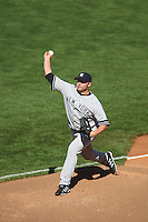 SAN FRANCISCO - June 23:  Roger Clemens of the New York Yankees warms up in the bullpen during the game against the San Francisco Giants at AT&T Park in San Francisco, California on June 23, 2007. Photo by Brad Mangin