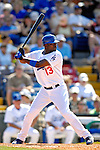 13 March 2007: Los Angeles Dodgers outfielder Choo Freeman in action against the Detroit Tigers during a spring training game at Holman Stadium in Vero Beach, Florida.<br /> <br /> Mandatory Photo Credit: Ed Wolfstein Photo