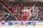 S&ouml;dert&auml;lje 2014-09-22 Ishockey Hockeyallsvenskan S&ouml;dert&auml;lje SK - IF Bj&ouml;rkl&ouml;ven :  <br /> Vy &ouml;ver Axa Sports Center under matchen med S&ouml;dert&auml;ljes supportrar p&aring; l&auml;ktaren<br /> (Foto: Kenta J&ouml;nsson) Nyckelord: Axa Sports Center Hockey Ishockey S&ouml;dert&auml;lje SK SSK Bj&ouml;rkl&ouml;ven L&ouml;ven IFB supporter fans publik supporters inomhus interi&ouml;r interior