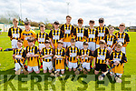 The Abbeydorney U14 Feile hurling team that played South Kerry in the U14 Feile C Hurling Final in Abbeydorney on Monday.