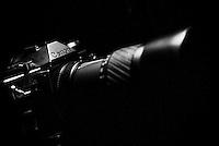 Canon AE-1 program vintage film camera in Dramatic lighting