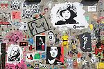 British graffiti street artist. Cans Festival. Waterloo, London. UK 2008.