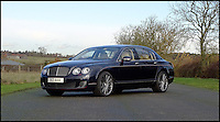 BNPS.co.uk (01202 558833)<br /> Pic: H&amp;H/BNPS<br /> <br /> 2011 Bentley Continental Flying Spur Speed with only 11,000 miles on the clock - &pound;55,000.<br /> <br /> The &pound;1,000,000 garage sale... a stunning collection of luxury cars seized from the personal collection of a Middle Eastern sheikh has emerged. <br /> <br /> The impressive fleet, comprising Ferrari, Rolls-Royce and Bentley motors, has arrived at auction following a high court ruling against their former owner.<br /> <br /> Due to their unusual history many of the cars, all of which were UK based and have unusually low mileages, are being offered at a bargain price.