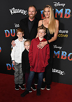 11 March 2019 - Hollywood, California - Kerri Walsh Jennings, Casey Jenkins, Sundance Thomas Jennings, Joseph Michael Jennings, Scout Margery Jennings . &quot;Dumbo&quot; Los Angeles Premiere held at Ray Dolby Ballroom. Photo <br /> CAP/ADM/BT<br /> &copy;BT/ADM/Capital Pictures