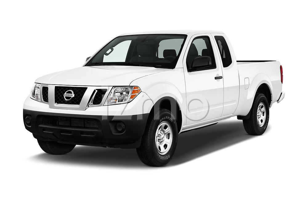 2017 Nissan Frontier S-King-Cab 4 Door Pickup Angular Front stock photos of front three quarter view