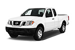 2018 Nissan Frontier S-King-Cab 4 Door Pickup Angular Front stock photos of front three quarter view