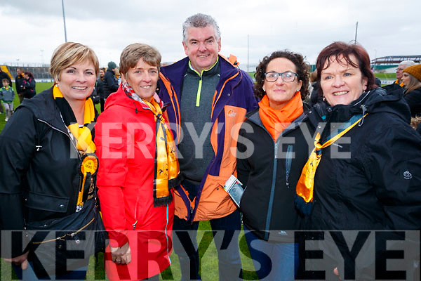 Bridget Clarke, Claire Stack, Ed Stack, Sheila Naughton and Helen Fitzgerald, pictured at the Garvey's Senior Football Championship, Dr Crokes v South Kerry, at the Austin Stack Park, Tralee on Sunday last.