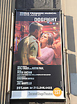 Theatre Marquee for the Off-Broadway Opening Night Performance of Second Stage Theatre's 'Dogfight' at the Second Stage Theatr in New York City.