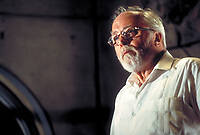 Jurassic Park (1993)<br /> English actor Richard Attenborough as entrepreneur John Hammond <br /> *Filmstill - Editorial Use Only*<br /> CAP/KFS<br /> Image supplied by Capital Pictures