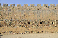 Fagment of the Frangokastello fort wall near Chora Sfakion, Crete