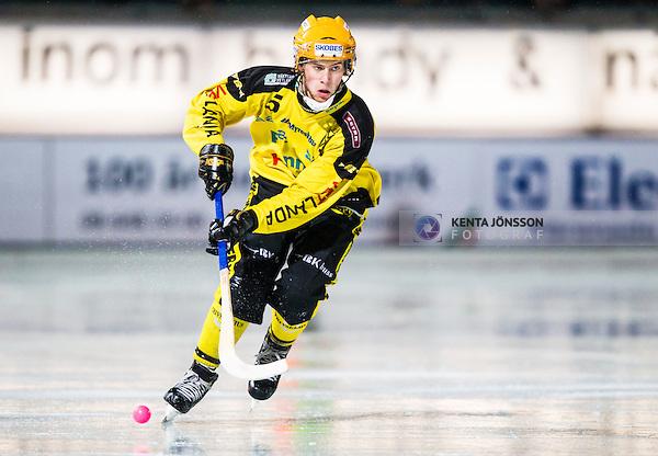 Stockholm 2014-02-21 Bandy SM-kvartsfinal 3 Hammarby IF - Vetlanda BK :  <br /> Vetlandas Pontus Blomberg <br /> (Foto: Kenta J&ouml;nsson) Nyckelord: portr&auml;tt portrait