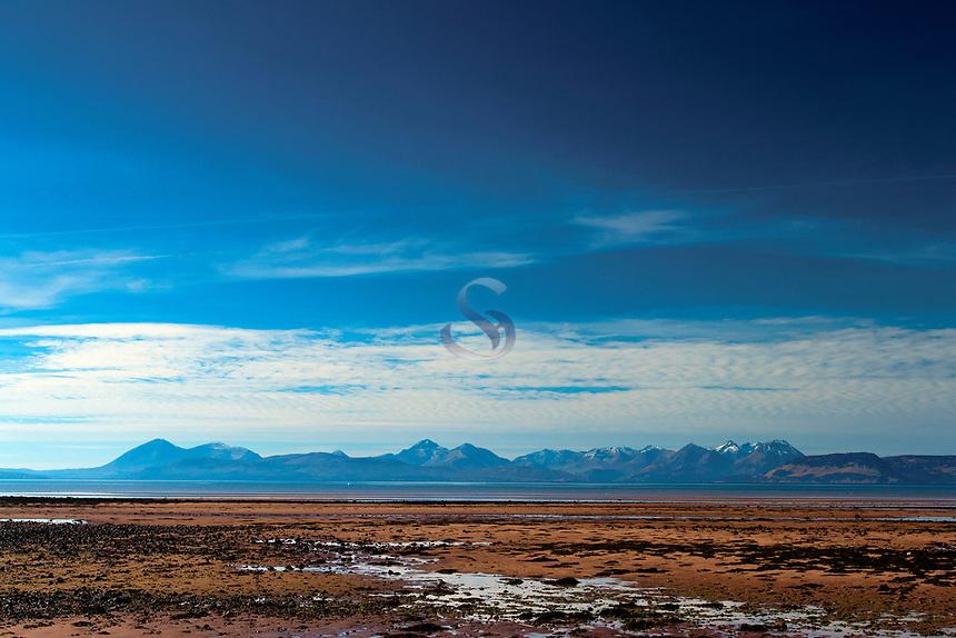 Skye from Applecross Bay, the North Coast 500 near Applecross, Applecross Peninsula, Northwest Highlands