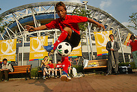 Soccer dribbler during the FIFA World Cup 2002.