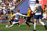 Ben Pringle of Tranmere Rovers takes a shot at the Newport goal during Newport County vs Tranmere Rovers, Sky Bet EFL League 2 Play-Off Final Football at Wembley Stadium on 25th May 2019