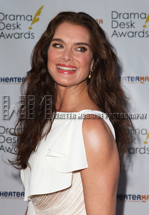 Brooke Sheilds pictured at the 57th Annual Drama Desk Awards held at the The Town Hall in New York City, NY on June 3, 2012. © Walter McBride / Retna Ltd