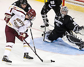 Drew Brown (PC - 7), Kevin Hayes (BC - 12), Alex Beaudry (PC - 35) - The Boston College Eagles defeated the visiting Providence College Friars 4-1 (EN) on Tuesday, December 6, 2011, at Kelley Rink in Conte Forum in Chestnut Hill, Massachusetts.