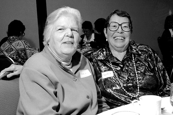 Del Martin and Phyllis Lyon founders of the first national Lesbian organization Daughters of Bilitus and the newsletter The Ladder at a  Boston 25th Anniversary DOB Celebration Cambridge MA November 13, 1994