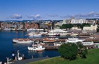 Blick auf Oslo vom Akershus slott, Norwegen