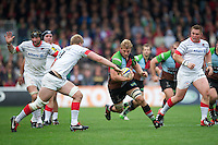 Chris Robshaw of Harlequins in action during the Aviva Premiership match between Harlequins and Saracens at the Twickenham Stoop on Sunday 30th September 2012 (Photo by Rob Munro)