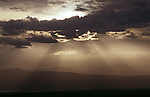 Dramatic skies above Ngorongoro Crater in Tanzania.