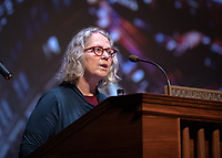 "Renee Baran, Associate Professor, Biology introduces<br /> The 2019 Occidental College Phi Beta Kappa speaker Kimberlé Crenshaw, a law professor, civil rights advocate and intersectional theorist, gave her lecture, ""Thirty Years of Theorizing Justice: Intersectionality, Critical Race Theory and Contemporary Issues"" on April 5, 2019 in Thorne Hall.<br /> Underwritten by the Ruenitz Trust Fund Endowment in honor of Dr. and Mrs. Robert C. Ruenitz.<br /> Kimberlé Williams Crenshaw is an American civil rights advocate and a leading scholar of critical race theory. She is a full­time professor at the UCLA School of Law and Columbia Law School, where she specializes in race and gender issues. Her work on race and gender was influential in the drafting of the equality clause in the South African Constitution. In 2001, she was instrumental in facilitating the inclusion of gender in the declaration of the United Nations' World Conference on Racism. In the domestic arena, she has served as a member of the National Science Foundation's committee to research violence against women, and has assisted the legal team representing Anita Hill.<br /> (Photo by Marc Campos, Occidental College Photographer)"
