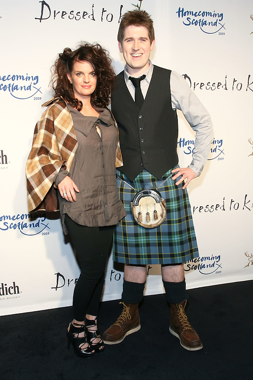 NEW YORK - MARCH 30:  Heather Greene and Andy Weir attend the 2009 Dressed to Kilt  at M2 Club March 30, 2009 in New York City. (Photo by Donald Bowers)