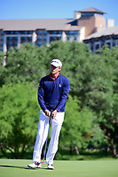 Smylie Kaufman (USA) reacts to sinking his putt on 10 during round 4 of the Valero Texas Open, AT&amp;T Oaks Course, TPC San Antonio, San Antonio, Texas, USA. 4/23/2017.<br /> Picture: Golffile | Ken Murray<br /> <br /> <br /> All photo usage must carry mandatory copyright credit (&copy; Golffile | Ken Murray)