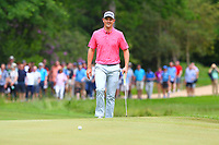 Justin Rose on the 4th green during the BMW PGA Golf Championship at Wentworth Golf Course, Wentworth Drive, Virginia Water, England on 28 May 2017. Photo by Steve McCarthy/PRiME Media Images.