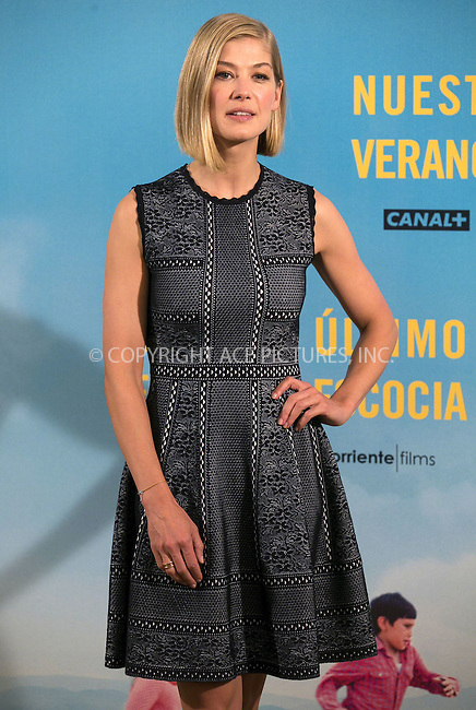 WWW.ACEPIXS.COM<br /> <br /> April 30 2015, Madrid<br /> <br /> Rosamund Pike at the 'What We Did On Our Holiday'  photocall on April 30, 2015 in Madrid, Spain<br /> <br /> By Line: Famous/ACE Pictures<br /> <br /> <br /> ACE Pictures, Inc.<br /> tel: 646 769 0430<br /> Email: info@acepixs.com<br /> www.acepixs.com