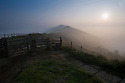 15/09/16 <br /> <br /> The stunning dawn scene over the Great Ridge as the sun begins to burn through the mist clinging to valley above Castleton in the Derbyshire Peak District on what is forecast to be the third day in a row where UK temperatures will top 30 degrees. <br /> All Rights Reserved: F Stop Press Ltd. +44(0)1773 550665   www.fstoppress.com