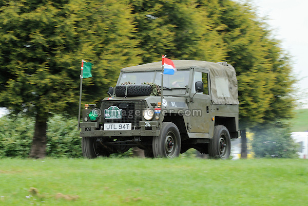 Dutch Army Land Rover Light Weight at the Gaydon Heritage Land Rover Run 2006. Europe, England, UK. --- No releases available. Automotive trademarks are the property of the trademark holder, authorization may be needed for some uses.