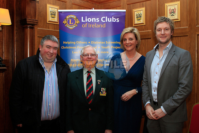 Peter Kierans, District Governor Joe Smith, Christine Regan and Stephen Doherty at the Launch of the Lions Club at  Scholars Townhouse...Photo NEWSFILE/Jenny Matthews..(Photo credit should read Jenny Matthews/NEWSFILE)
