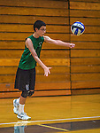 15 October 2013: The Vermont Commons School Flying Turtles visit the Burlington Seahorses at Burlington High School in Burlington, Vermont. High School Volleyball has been granted a two-year exhibition status in the State of Vermont starting with the 2013 season, in effort to attain full varsity status. Mandatory Credit: Ed Wolfstein Photo *** RAW (NEF) Image File Available ***