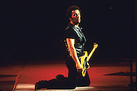 Legendary rock star and icon Bruce Springsteen performs .