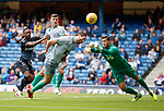 21.07.2019: Rangers v Blackburn Rovers: Charlie Mulgrew clears from Jermain Defoe