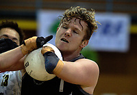 Cameron Leslie takes a pass during the 2017 International Wheelchair Rugby Federation Asia-Oceania Zone Championships tournament match between the New Zealand Wheel Blacks and Japan at ASB Stadium in Auckland, New Zealand on Thursday, 31 August 2017. Photo: Dave Lintott / lintottphoto.co.nz