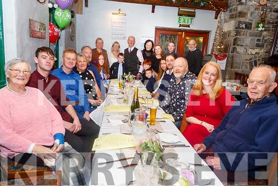 90th Birthday: Bernard Guerin, Ballyduff, right, celebrating his 90th birthday with family at The Thatch Bar, Liselton on Saturday night last.