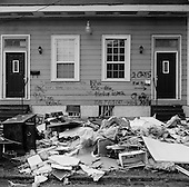 New Orleans, Louisiana.USA.December 4, 2005 ..Damaged homes in central New Orleans, many with writing of some kind on the face.