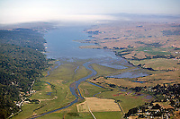 aerial photograph Tomales Bay, Marin County, California