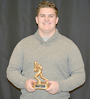 Graham Thomas/Herald-Leader<br /> Siloam Springs senior Chase Chandler was named the Defensive Player of the Year for the 2018 season.