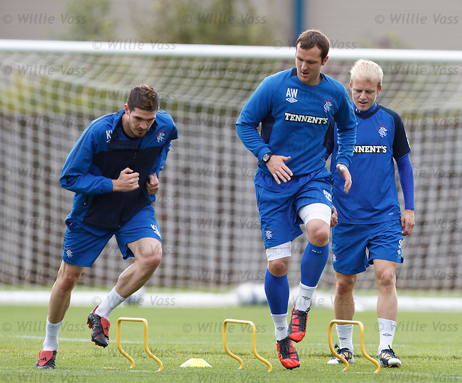 Kyle Lafferty, Andy Webster and Steven Naismith