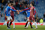 16.02.2019: Rangers v St Johnstone: Handshakes all round after a 0-0 draw