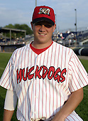 July 12, 2004:  Pitcher Nathan (Nate) Johnson of the Batavia Muckdogs, Short-Season Single-A affiliate of the Philadelphia Phillies, during a game at Dwyer Stadium in Batavia, NY.  Photo by:  Mike Janes/Four Seam Images